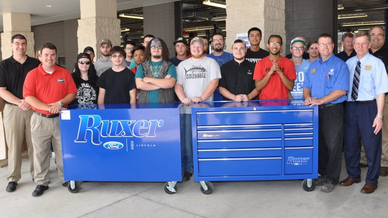 vu automotive/collision technology receives donation from ruxer ford